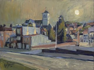 En Plein Air, Street View and Studio Painting. Contemporary impressionism by Briex