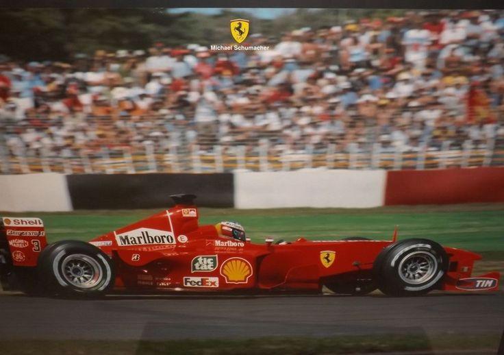 MICHAEL SCHUMACHER FERRARI F399 F1 OFFICIAL WORKSHOP POSTER PRINT GARAGE 1999 GP