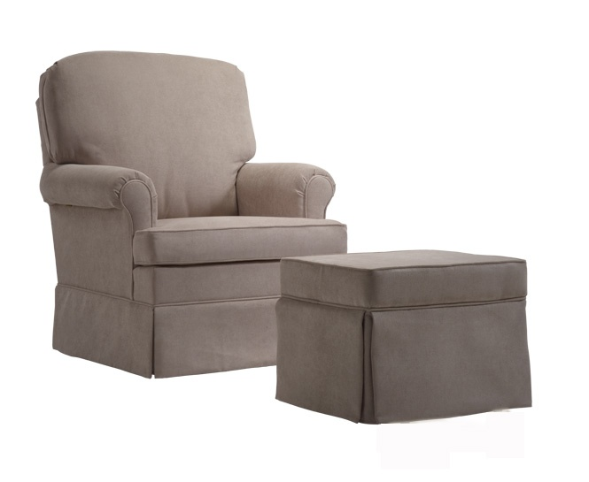 Dutailier 173-Series Upholstered Glider. Great Beginnings carries a full-selection of gliders by Dutailier. Nursery furniture.