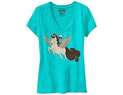 Tina Belcher Riding Coffee Pegasus Bob's Burgers Juniors T-Shirt NEW