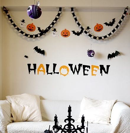 壁の飾り付け ハロウィンパーティー キッズパーティー演出