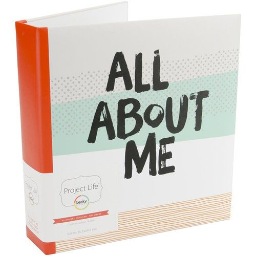 Becky Higgins - Project Life - 6 x 8 - Memory Book - Album - All About Me