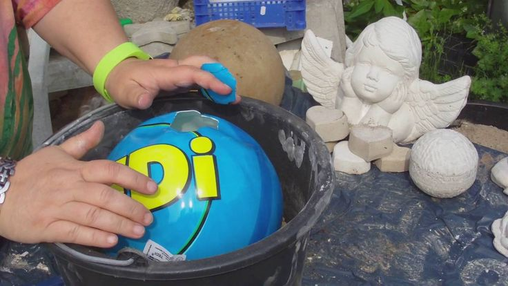Beton giessen - DIY - Betonkugel im Ball - verbesserte Methode mit euren...