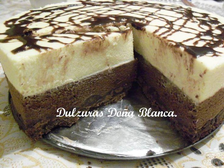 Mousse de Chocolate Blanco y Semi Amargo