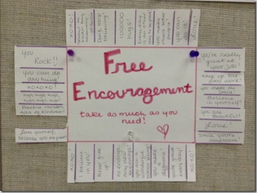 FREE ENCOURAGEMENT - need to change the pull offs... but like the idea