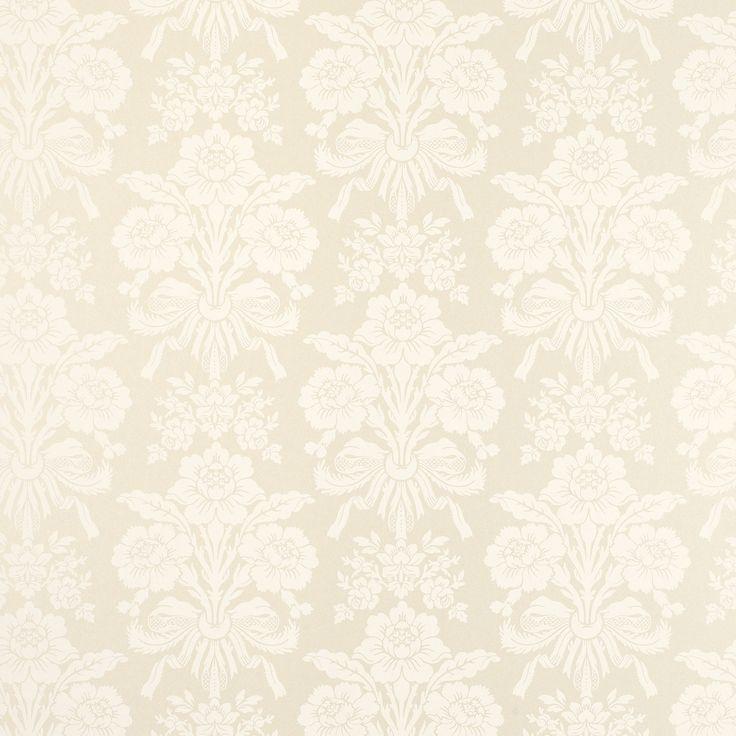 Tatton Linen Damask Wallpaper