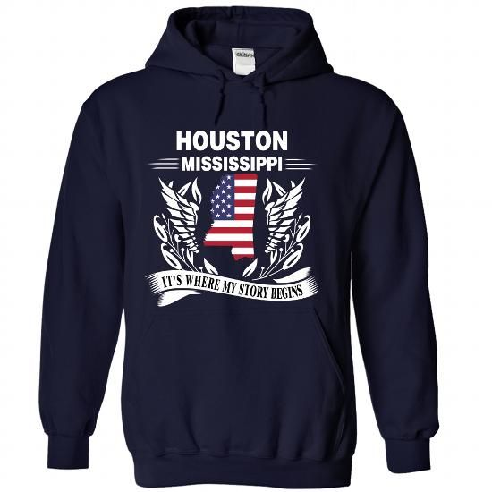 Houston, MS - Its where my story begins - #coworker gift #shower gift. BEST BUY => https://www.sunfrog.com/States/Houston-MS--Its-where-my-story-begins-NavyBlue-Hoodie.html?68278