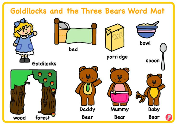 Goldilocks and the Three Bears Word Mat - A clear and visual A4 word mat with key words and cartoon images relating to the story of Goldilocks and the Three Bears. Great to laminate and put on tables for children to use during independent writing. Why not use alongside our Goldilocks flash cards? Also available as part of our Goldilocks and the Three Bears pack.