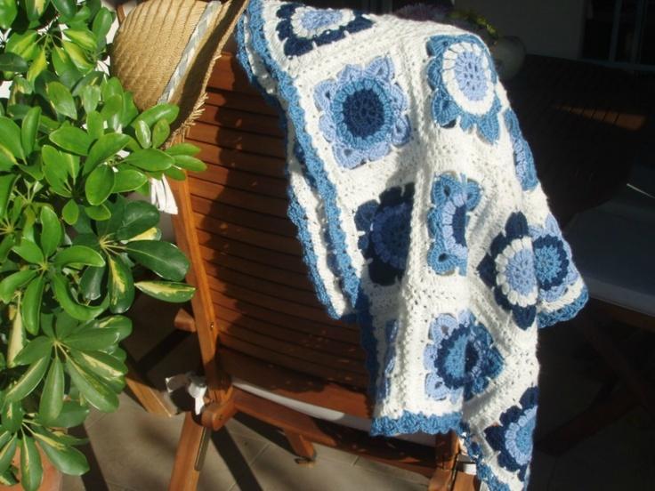 Plaid granny crochet