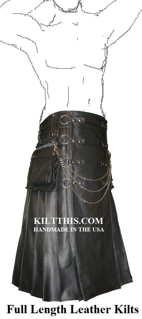 Utility Kilt Full Length Leather Utility Kilt for Men Handmade in the USA Interchangeable Parts on Etsy, $1,500.00