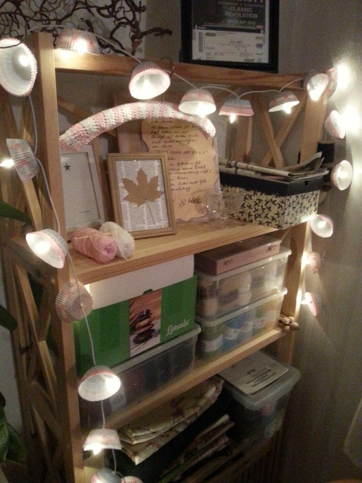 LED-Kette mit Muffinförmchen