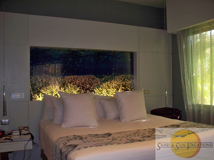 Gorgeous Built In Aquarium Fish Tank As A Headboard For