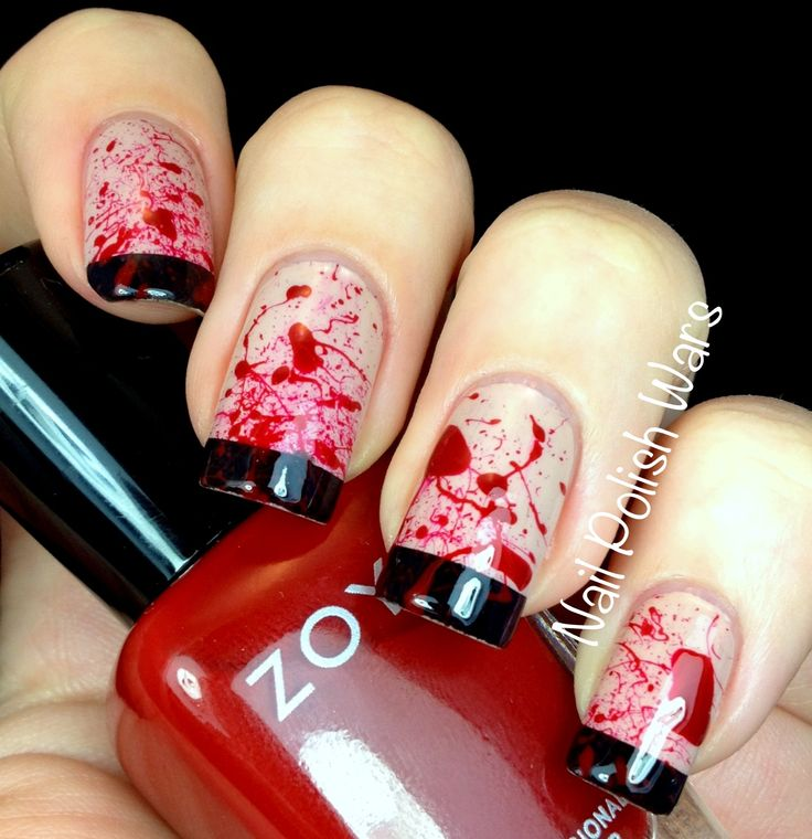 Too late to do this year - Halloween nails