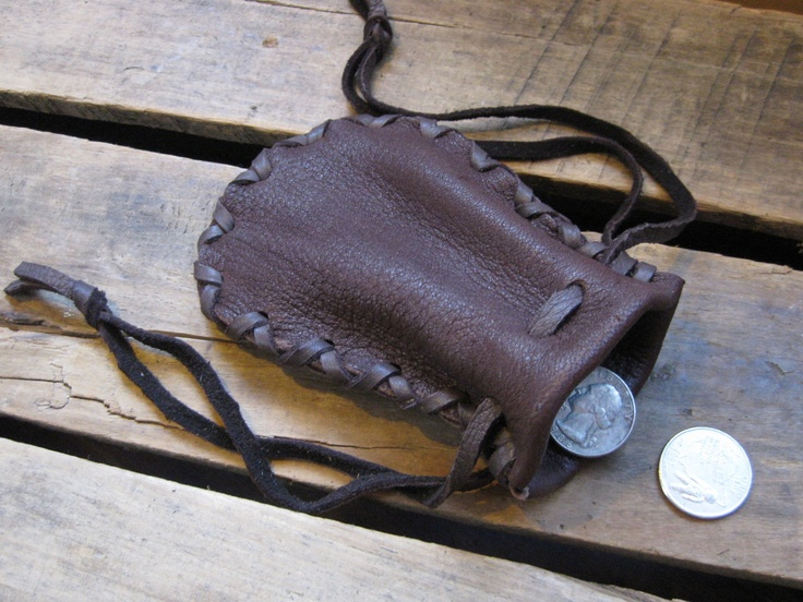 little leather pouch