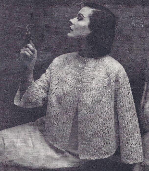 Vintage Bed Jacket Knitting Pattern : 27 best Vintage knitting patterns - bed jackets. images on Pinterest Vintag...