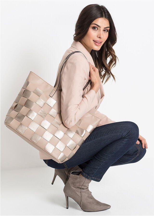 Torba Shopper Cielisty Torba Shopper W 109 99 Zl Bonprix Fashion Leather Backpack Louis Vuitton Damier