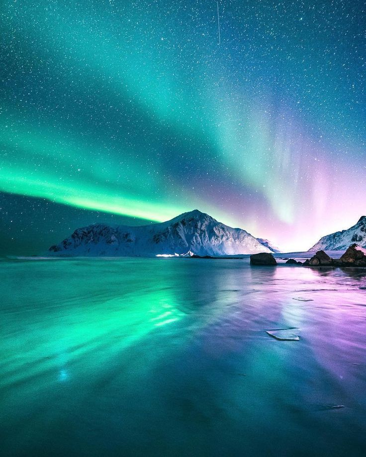 """20.7k Likes, 225 Comments - Stay & Wander (@stayandwander) on Instagram: """"The incredible colors of the norther lights in the skies above Lofoten.  Photo by @eventyr…"""""""