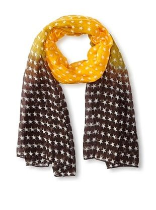 58% OFF Jules Smith Women's Ombre Star Scarf, Orange/Brown, One Size