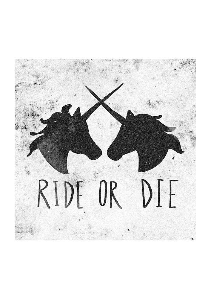 Ride or Die Unicorns - East End Prints - 19,95 GBP
