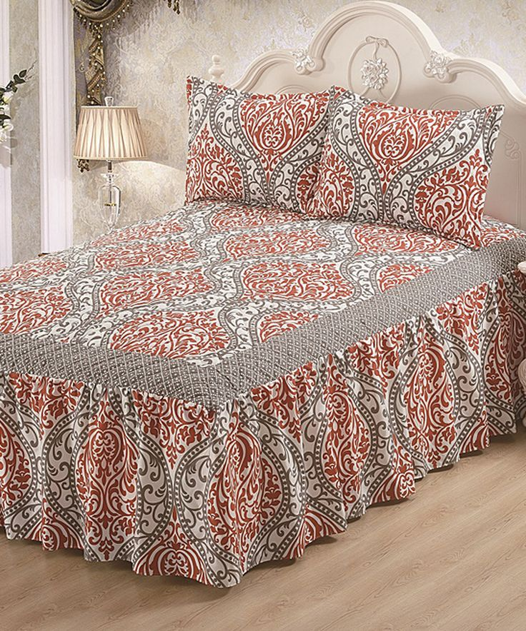 Another great find on #zulily! Gray Hailey Bed Skirt Set by Glory Home Designs #zulilyfinds