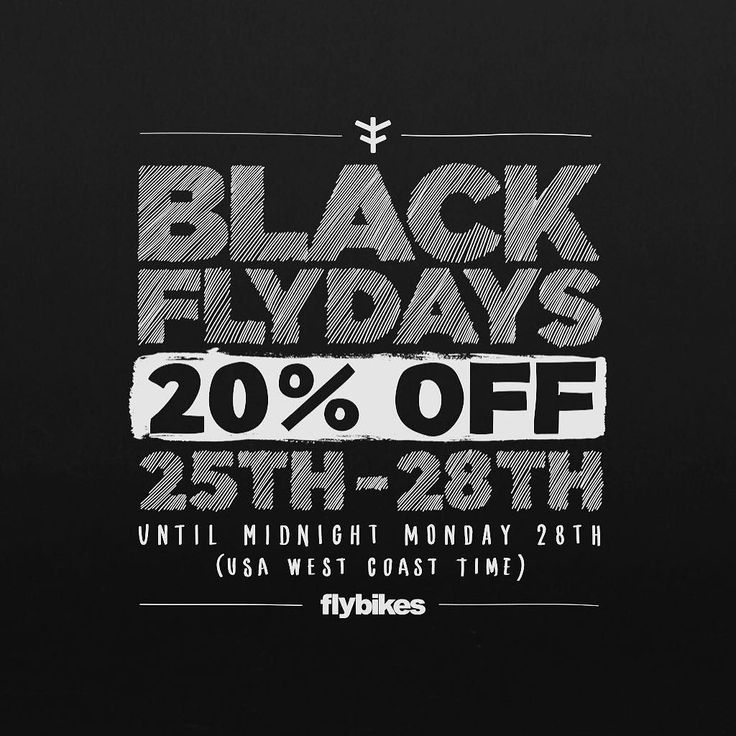 """Don't forget we have our Black Flydays sale going now! 20% off EVERYTHING on our website from complete bike to frames and parts! Visit Flybikes.com then click on """"Products"""" and get to shopping!  #bmx #flybikes #bike #bicycle #sale #blackfriday #deal"""