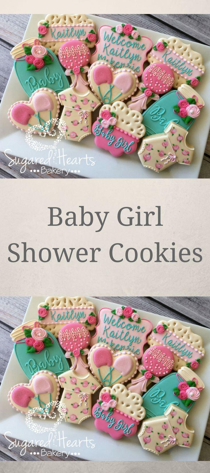 Shabby Chic Vintage Lace Floral Baby Shower Cookies - 1 Dozen #affiliate