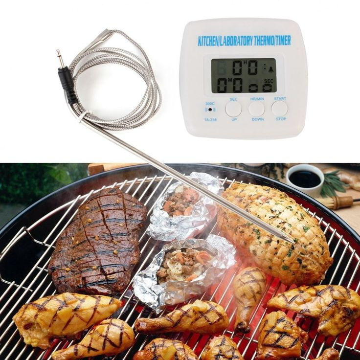 Kitchen Probe Thermometer Timer Alarm Function with Cable Wire Cooking Equipment #Unbranded