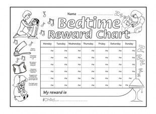 Download And Print This Bedtime Reward Chart Which Can Be