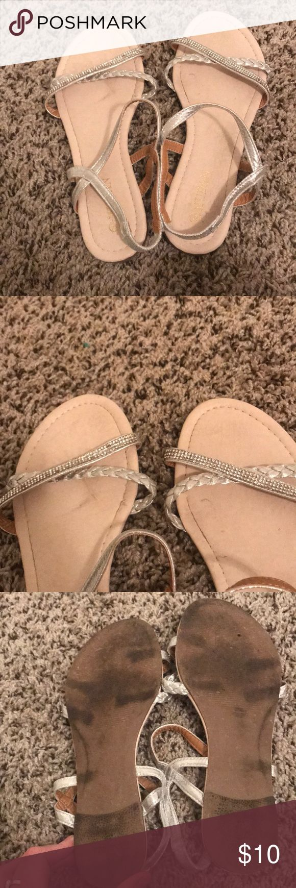 Sparkly sandals size 9 Super cute sparkly sandals in size 9. I️ wore these once for my friends wedding, they are still in great shape! mudan Shoes Sandals