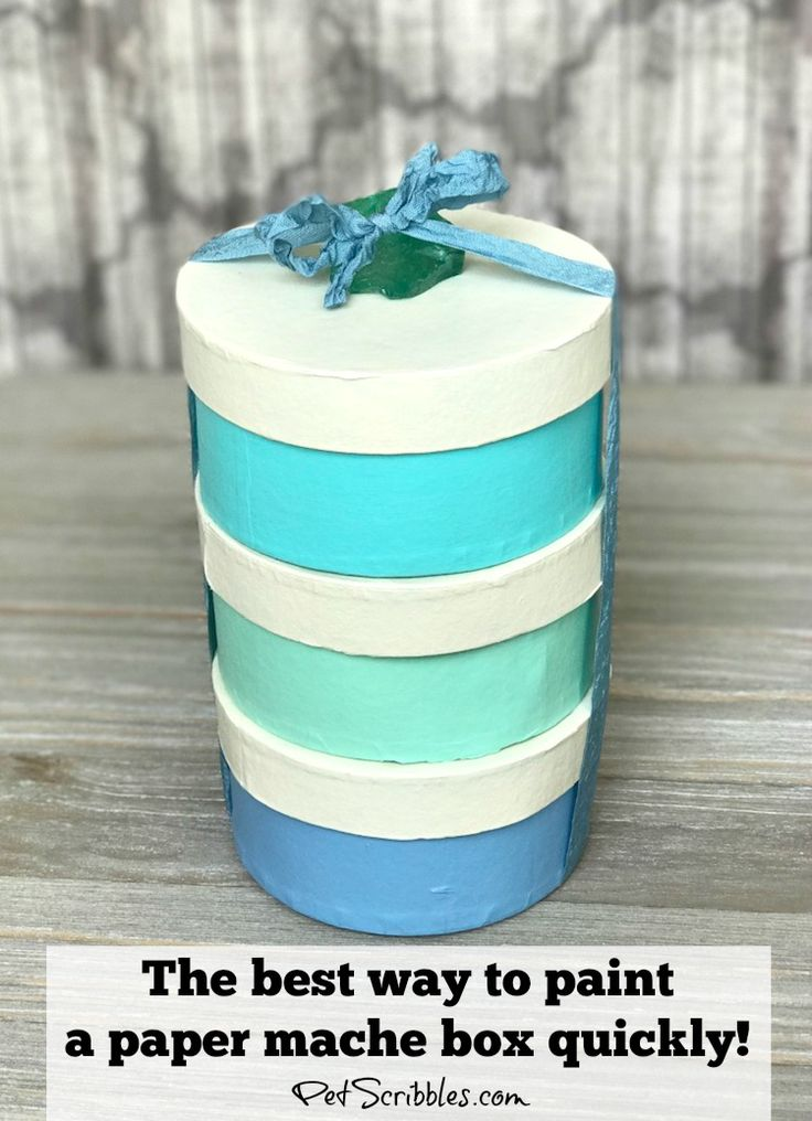 Today I'm going to show you the best way to quickly paint paper maché boxes! Yes, you can paint a paper maché box in about 15 minutes, give or take a tiny bit ofdrying time, with my helpful …