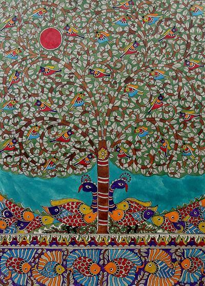 Madhubani painting - Nature Rejoice | NOVICA