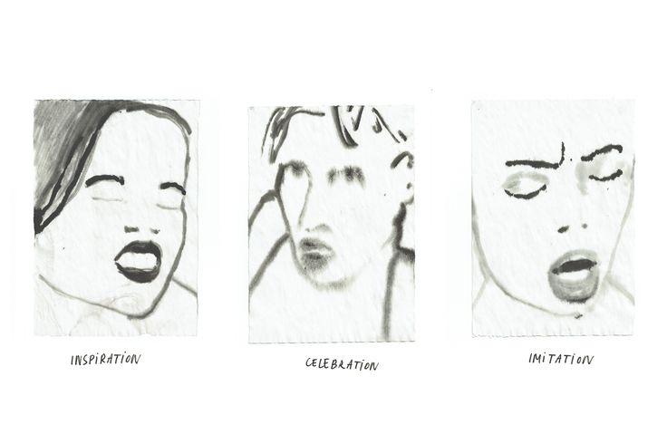 Inspiration, celebration, imitation. Ink on paper. Igor Kubik drawings