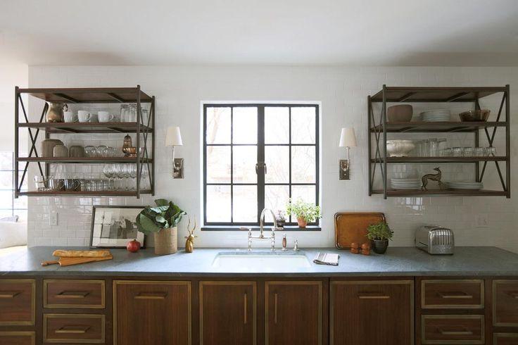 Metal Wall Shelves Kitchen