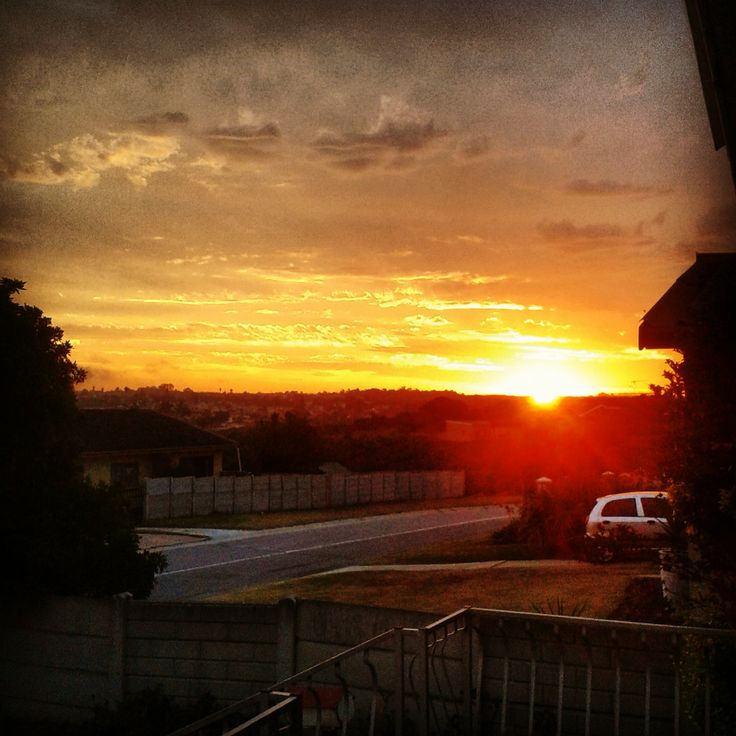 The sunset I see almost everyday from my doorstep. Beautiful isn't it?