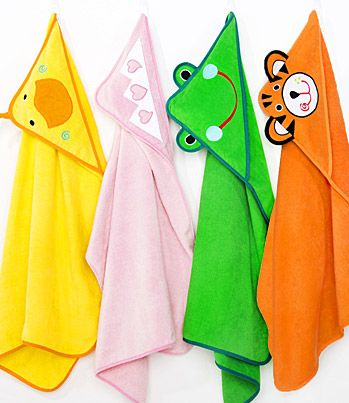 Fun Hooded Towels for Kids Bath Time.