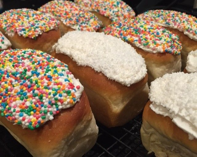 Finger Buns. 50g dough weight & solite icing. Photo credit - Jenny May.