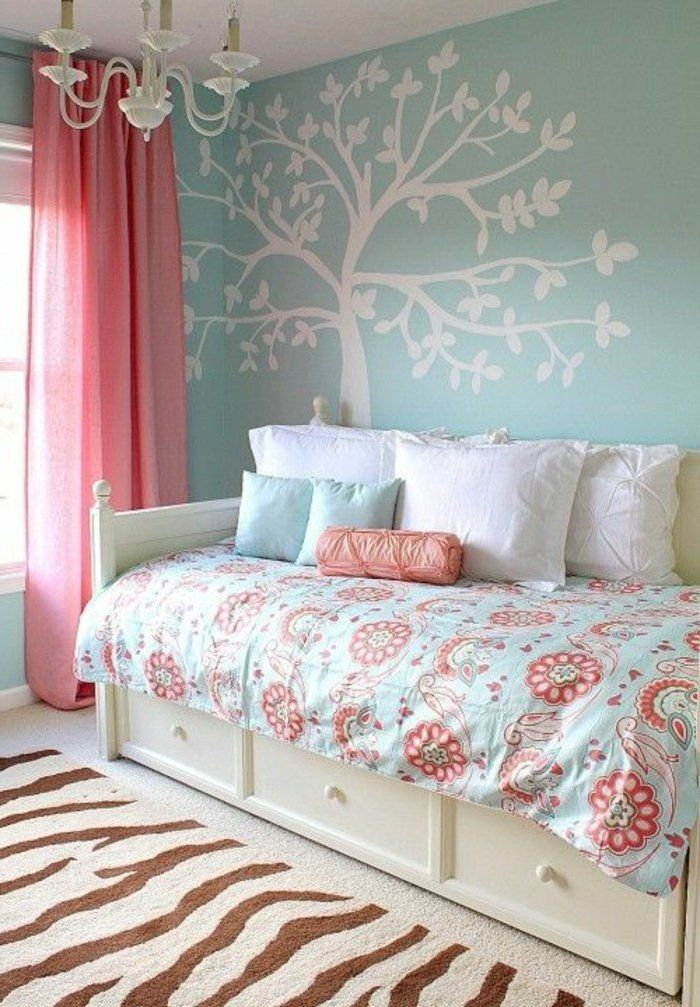 17 id es propos de d co chambre ado fille sur pinterest for Decoration murale chambre fille