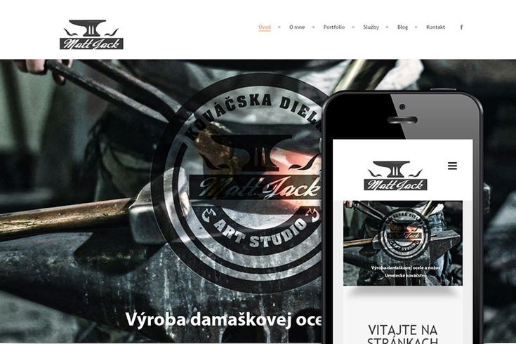 Kováčska dielňa JACKY/Moderné Webstránky/web