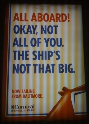 for Carnival Cruise Lines, pretty funny