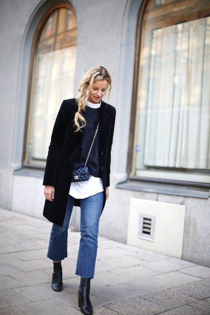 cropped flared jeans | chanel borsa classica | chanel outfit