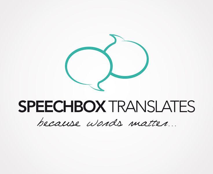 Création du logo de Speechbox Translates, traduction, édition et relecture anglais-espagnol-français.