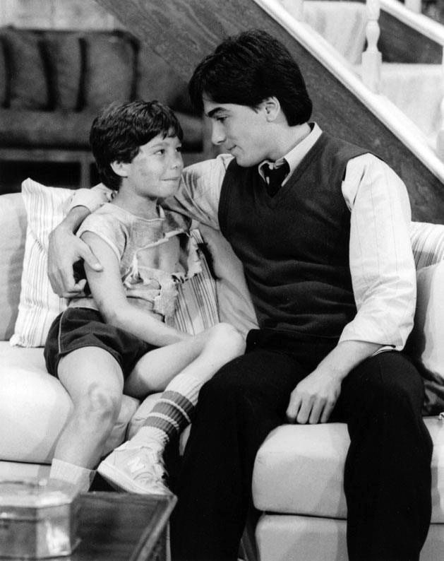 Scott Baio as Charles and Michael Pearlman as Jason Pembroke in CHARLES IN CHARGE