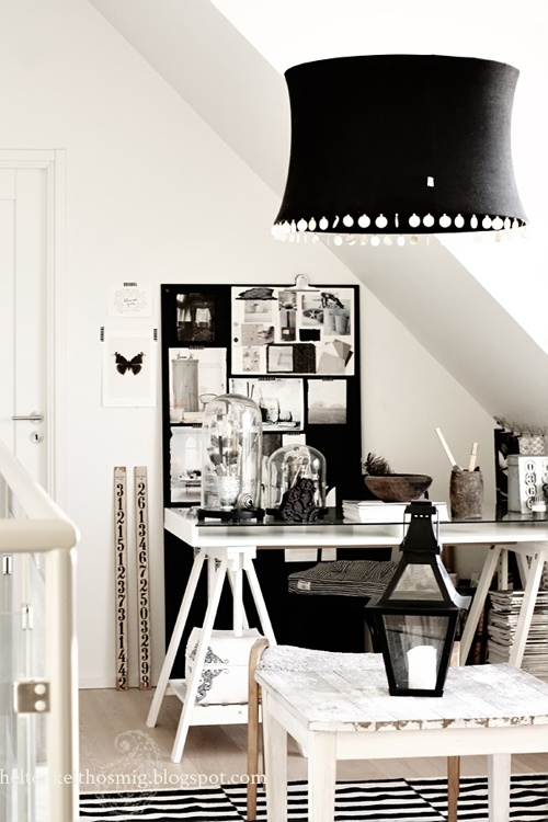 Photo Anna-Malin black and white home office