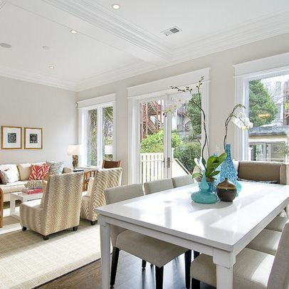 Benjamin Moore 'Balboa Mist' Great backdrop color to emphasize the white trims.