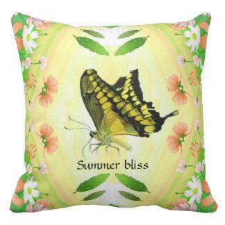 Summer love butterfly pillow