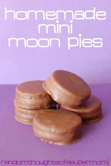 Very easy mock moon pies: just graham crackers, marshmallow creme, and chocolate.