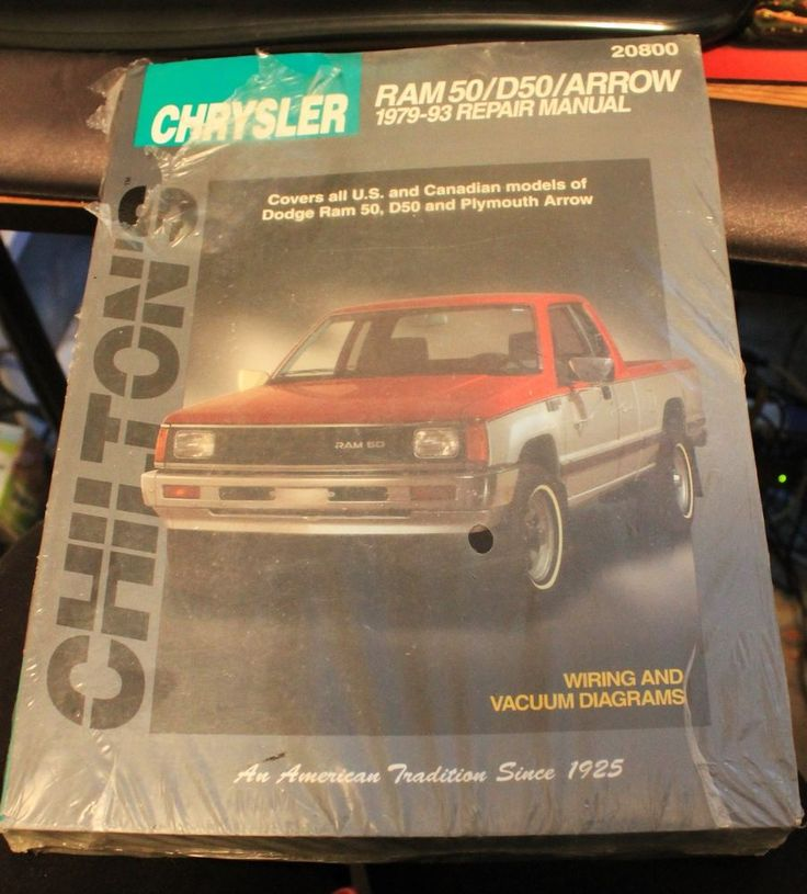 Chilton Repair Manual Chrysler Ram 50 D50 Arrow US and Canadian #20800 79-93