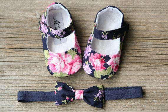 Zapatos de bebé azul marino zapatos de bebé por MartBabyAccessories