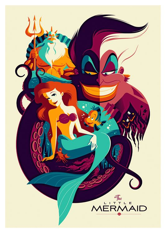 The Little Mermaid Movie Poster, available at 45x32cm. This poster is printed on matt coated 350 gram paper.