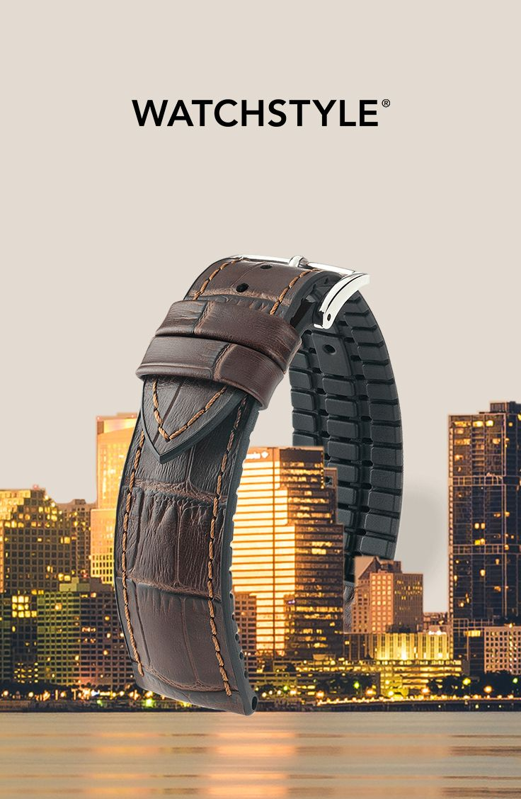 """""""Paul"""" watch strap by HIRSCH Armbänder is an ideal companion for a busy city life🏙 ✔️tone-on-tone stitching  ✔️300m water-resistant  ✔️""""Tuscany"""" calfskin  ✔️сaoutchouc сore  ✔️hypoallergenic More details on our website.  #watchstyle #watchstylecollection"""